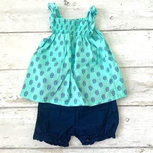 Carters Baby Girl Summer Outfit Navy Bloomers